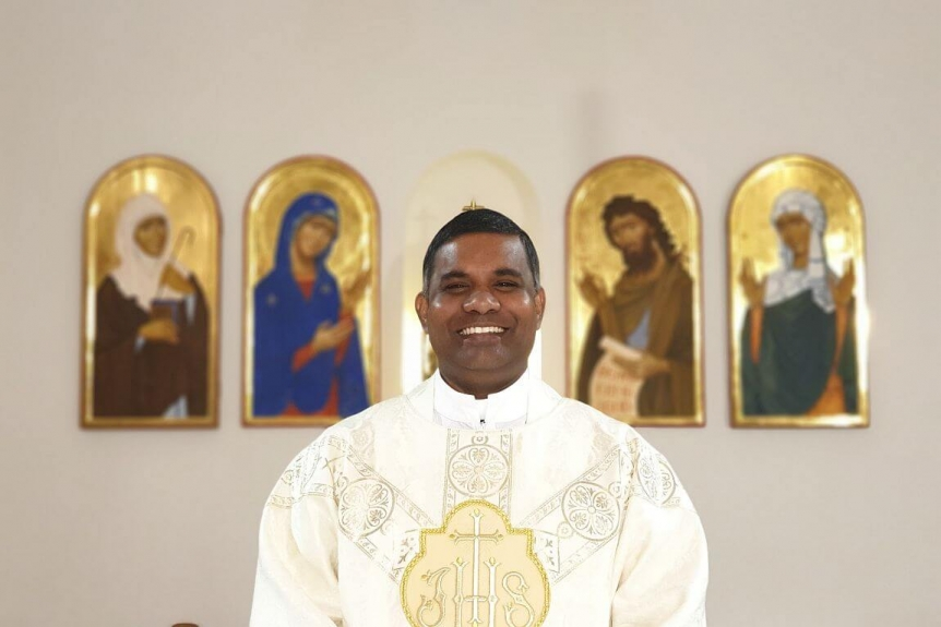 Fr Srinu is moving to the parish in Rednal